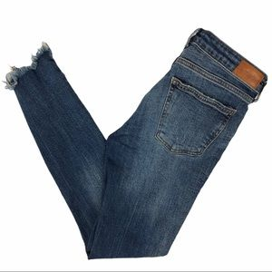 Zara Jeans - Zara Woman Distressed High-Rise Cropped Jeans Sz 4